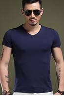 "Мужская футболка 100% Хлопок Марка ""DOOMILAI"" Арт.1829 (синий)"