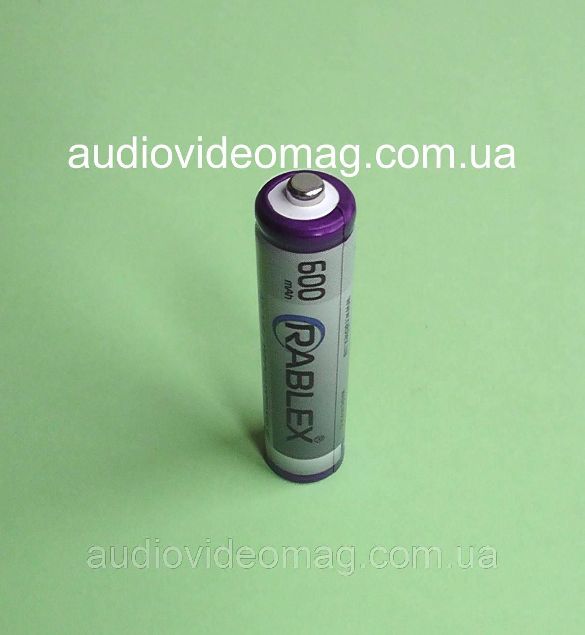 Аккумулятор RABLEX, микропальчиковый, 600 мАч R03 ААА (NiMH), цена за 1 шт