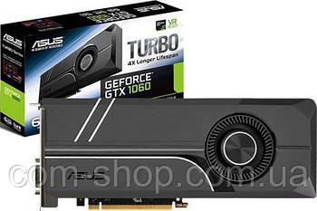 Asus PCI-Ex GeForce GTX 1060 Turbo 6GB GDDR5 (192bit) (1506/8008) (DVI, 2 x HDMI, 2 x DisplayPort) (TURBO)