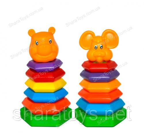 "Развивающая игрушка пирамидка-качалка ""Мишка"""