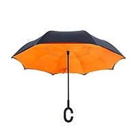 Зонт обратного сложения ветрозащитный MHZ WHW17133 Orange (006296)