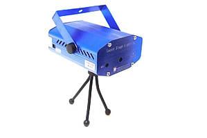 Лазерный проектор мини стробоскоп 4 в 1 MHZ 4053 Синий (008682)