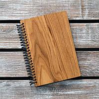 Блокнот с деревянной обложкой. Формат А5. Сменный блок. (А00414)