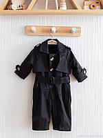 Тренч детский комбинезон, черный, фото 1