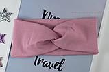 Повязка женская из стрейч-хлопка цвет малиновый 9см, фото 2