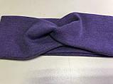 Повязка женская из стрейч-хлопка цвет малиновый 9см, фото 5