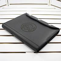 Кожаный блокнот M (А5 формата). Ежедневник с лазерной гравировкой. Натуральная кожа