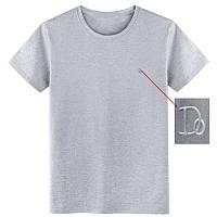 """Мужская футболка 100% Хлопок Марка """"DOOMILAI"""" Арт.1845(серая)"""