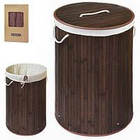 Корзина для белья складная 35*60см бамбук