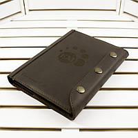 Кожаный блокнот M (формат А5). Кожаный ежедневник. Лазерная гравировка под заказ