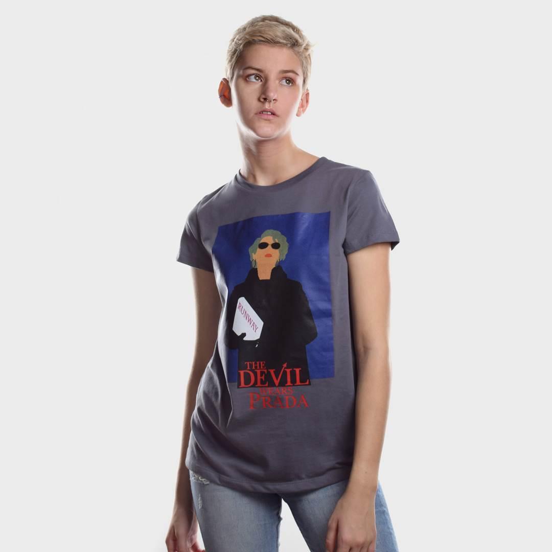 Женская футболка DWP серая