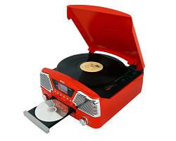 Музыкальный проигрыватель-грамофон Camry CR 1134 r Красный (CR 1134 r)