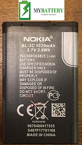Оригинальный аккумулятор АКБ батарея для Nokia 1100/ 1101/ 1110/ 1112/ 1600/ 2300/ 2310/ BL-5C 1020мAh 3.7V