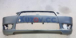 Передний бампер Mitsubishi Lancer X '07-12 (с отв. под спойлер) (FPS) 6400B916WA, фото 2