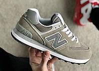 Женские кроссовки New Balance 574 Grey, Реплика, фото 1