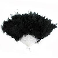 Веер перо чёрный   KPB-2055