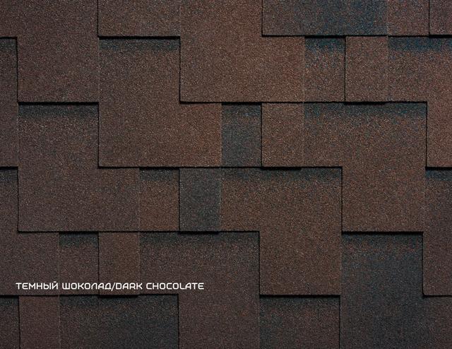 Битумная черепица Руфлекс RUFLEX RUNA - Dark Chocolate