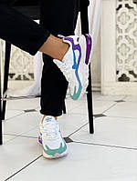 Женские кроссовки Nike air max 270 React White Light Blue белые