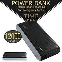 Внешнее зарядное устройство Power Bank Proda 12000 mAh с мигалкой