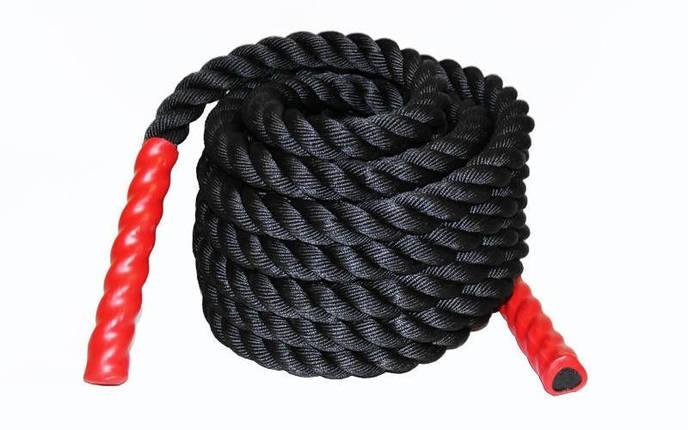 Канат для кроссфита COMBAT BATTLE ROPE (полипропилен, l-6м,d-3,8см), фото 2