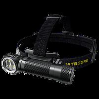 Фонарь налобный Nitecore HC35 (4xCree XP-G3 S3, 2700 люмен, 8 режимов, 1х21700, USB)