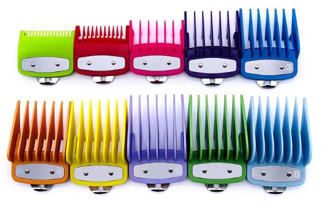 Набор цветных насадок Premium для машинок Wahl,10 шт(03422-C)