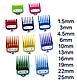 Набор цветных насадок Premium для машинок Wahl,10 шт(03422-C), фото 2