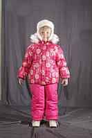 Зимний цветной комбинезон для девочки Розовый звездочка