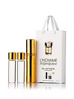 Міні-парфуми Yves Saint Laurent l'homme, чоловічий 3х15 мл