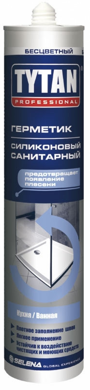 Силикон санитарный Tytan Euro-Line прозрачный, 290 мл