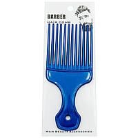 Расческа - гребень для бороды Barber Hair Comb черная Синий