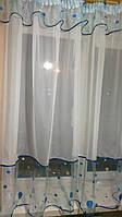 Тюль Декор Горох 148 х 280 Белый (63006) шифон, фото 1