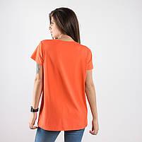 Футболка TIGERRR с вышивкой оранжевая, фото 2