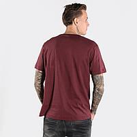 Мужская футболка CROCO бордовая, фото 2