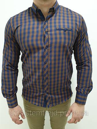 Рубашка мужская клетка Grand Men