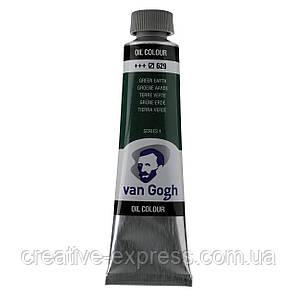 Фарба олійна VAN GOGH, (629) Зелена земля, 40 мл, Royal Talens, фото 2