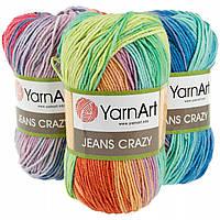 Хлопковая пряжа от ярнАрт джинс Yarnart Jeans crazy все цвета