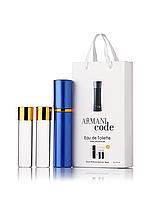 Міні-парфуми Giorgio Armani Code, чоловічий 3х15 мл