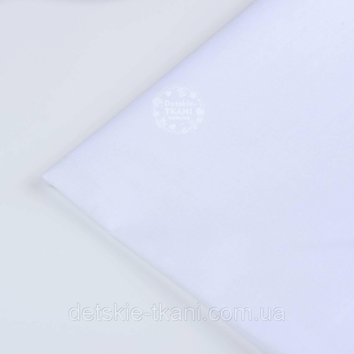 Отрез ткани белого цвета №28а плотность 125 г/кв.м