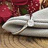 Кольцо Xuping 14283 размер 19 ширина 6 мм вес 1.8 г белые фианиты позолота БЗ, фото 4