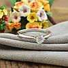 Кольцо Xuping 14283 размер 19 ширина 6 мм вес 1.8 г белые фианиты позолота БЗ, фото 5