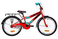 """Велосипед 20"""" Formula RACE MC усилен. St с багажником зад St, с крылом St 2019 (красно-бирюзовый)"""