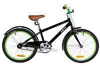 """Велосипед 20"""" Dorozhnik ARTY 14G St с крылом St 2019 (черно-салатный)"""