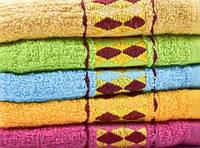 Махровое лицевое полотенце Ромбики