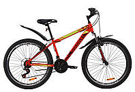 """Велосипед ST 26"""" Discovery TREK AM Vbr с крылом Pl 2020 (красно-черный с салатовым)"""