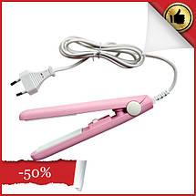 Дорожный мини утюжок выпрямитель для волос ГОФРЕ GV-118, щипцы, стайлер, прибор для укладки волос, фото 3