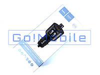 АЗУ 2 USB 2.4 Hoco E19 + FM модулятор серый