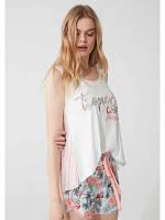 Пижама женская шорты+майка, S, M, L, XL, Feyza 3783