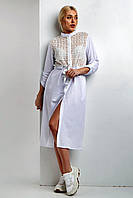 """Элегантное платье TM Garne """"Daria"""" миди с глубоким разрезом (6 цветов, р.S-4XL)"""
