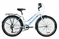 "Велосипед ST 26"" Discovery PRESTIGE WOMAN Vbr с багажником зад St, с крылом St 2020 (бело-голубой)"